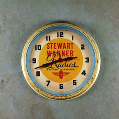 Fridge Magnet Vintage Advertising Clock Stewart warner Radios