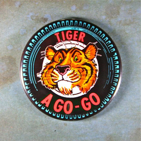 Vintage Advertising Button Fridge Magnet Tiger a Go-Go Esso