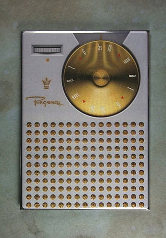 Vintage First Transistor Radio Fridge Magnet Regency TR 1