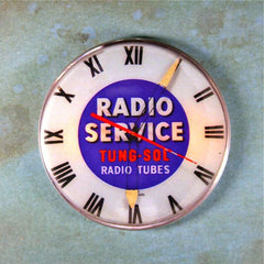 Vintage Radio Service Advertising Clock Tungsol Radio Tubes