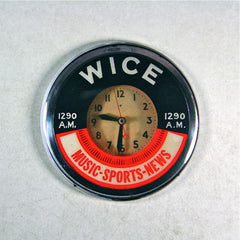 Vintage Neon Advertising Clock Fridge Magnet AM Radio