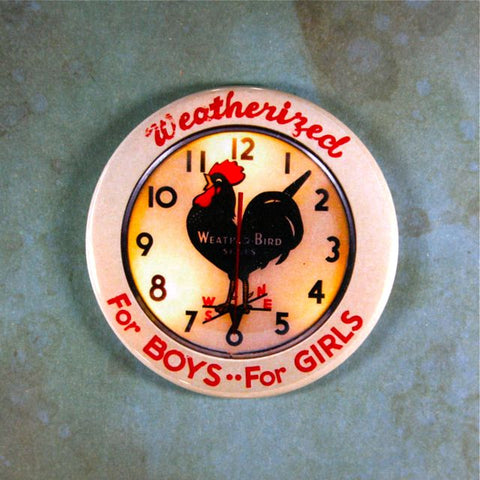 Vintage Advertising Clock Fridge Magnet Weatherbird Shoes