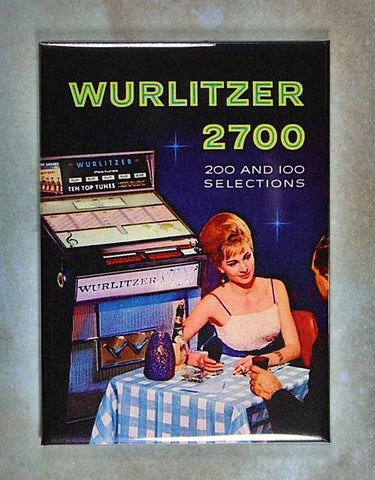 Vintage Jukebox Advertisement Fridge Magnet Wurlitzer 2700