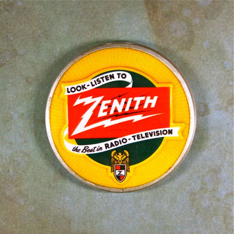 Vintage Advertising Sign Fridge Magnet Zenith Tv Radio