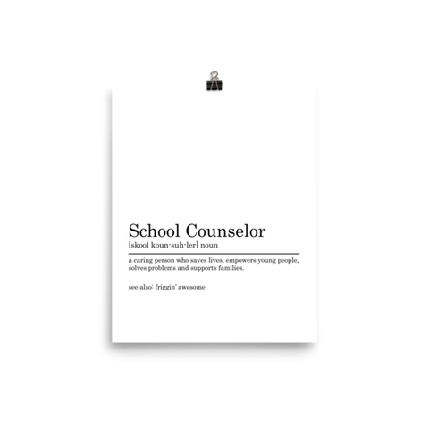 School Counselors Are Friggin' Awesome Photo paper poster - The School Counselor Shop