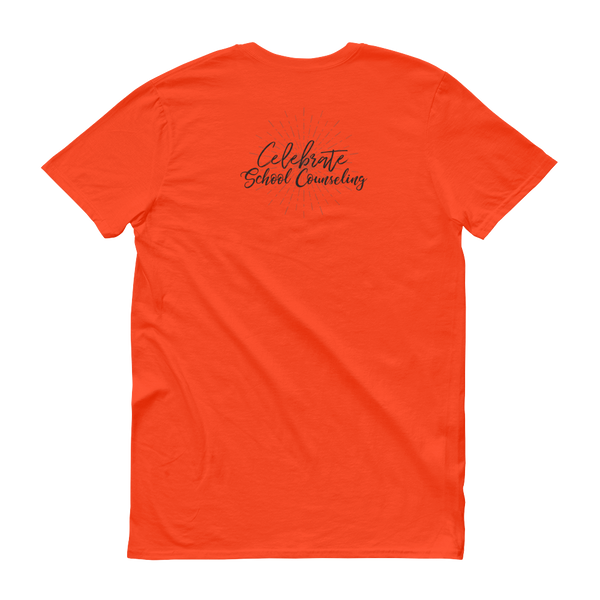 Celebrate School Counseling Short-Sleeve T-Shirt - The School Counselor Shop  Great gifts and items for school and guidance counselors. School Counseling, Counseling, School Shirts, Counseling Apparel