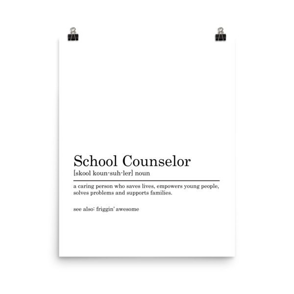 School Counselors are Friggin' Awesome Poster - The School Counselor Shop  Great gifts and items for school and guidance counselors. School Counseling, Counseling, School Shirts, Counseling Apparel