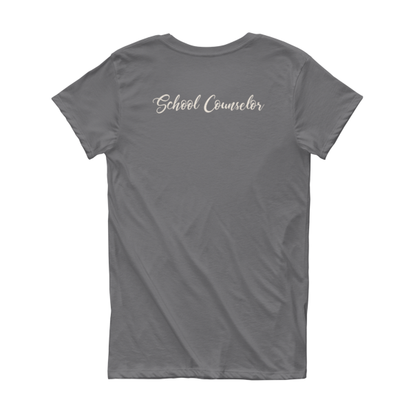 CA School Counselor 2 Short Sleeve Women's T-shirt - The School Counselor Shop  Great gifts and items for school and guidance counselors. School Counseling, Counseling, School Shirts, Counseling Apparel