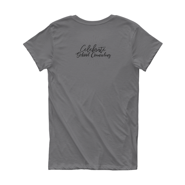 Celebrate School Counseling Short Sleeve Women's T-shirt - The School Counselor Shop  Great gifts and items for school and guidance counselors. School Counseling, Counseling, School Shirts, Counseling Apparel