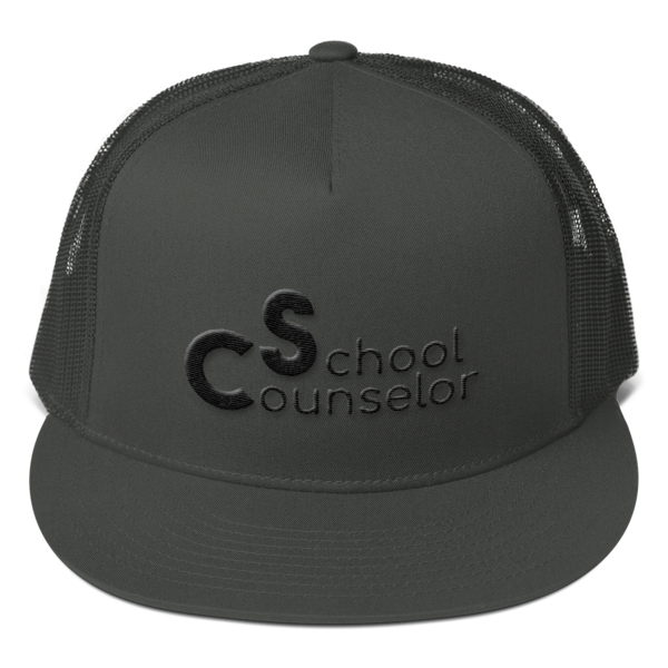 School Counselor Partial Puff Mesh Back Snapback - The School Counselor Shop  Great gifts and items for school and guidance counselors. School Counseling, Counseling, School Shirts, Counseling Apparel