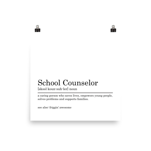 School Counselors Are Friggin' Awesome Photo paper poster - The School Counselor Shop  Great gifts and items for school and guidance counselors. School Counseling, Counseling, School Shirts, Counseling Apparel