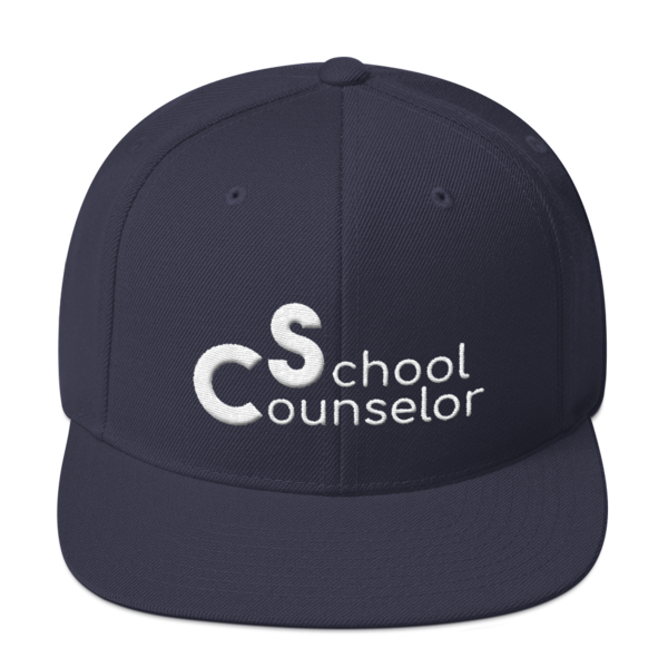 School Counselor 3D Puff Light Text Snapback Hat - The School Counselor Shop  Great gifts and items for school and guidance counselors. School Counseling, Counseling, School Shirts, Counseling Apparel