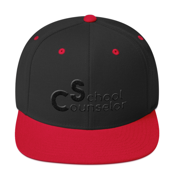 School Counselor Partial Puff Dark Snapback Hat - The School Counselor Shop  Great gifts and items for school and guidance counselors. School Counseling, Counseling, School Shirts, Counseling Apparel