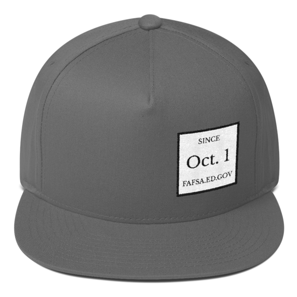 Since Oct. 1 Yupoong Flat Bill Cap - The School Counselor Shop  Great gifts and items for school and guidance counselors. School Counseling, Counseling, School Shirts, Counseling Apparel