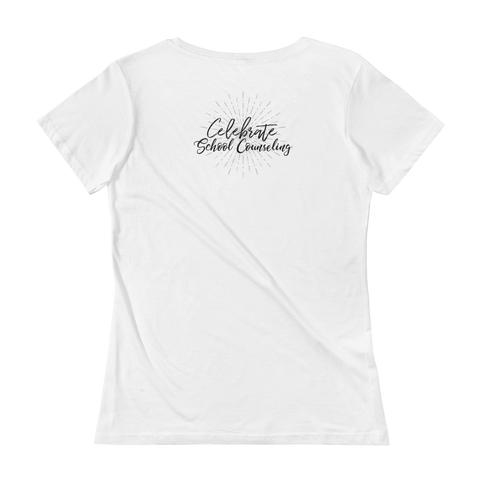 Celebrate School Counseling Ladies' Scoopneck T-Shirt - The School Counselor Shop  Great gifts and items for school and guidance counselors. School Counseling, Counseling, School Shirts, Counseling Apparel
