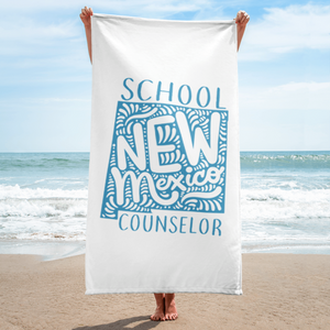 NM School Counselor Towel - The School Counselor Shop  Great gifts and items for school and guidance counselors. School Counseling, Counseling, School Shirts, Counseling Apparel