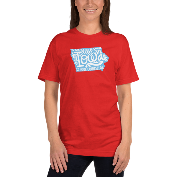 Iowa School Counselor Short-Sleeve T-Shirt - The School Counselor Shop  Great gifts and items for school and guidance counselors. School Counseling, Counseling, School Shirts, Counseling Apparel