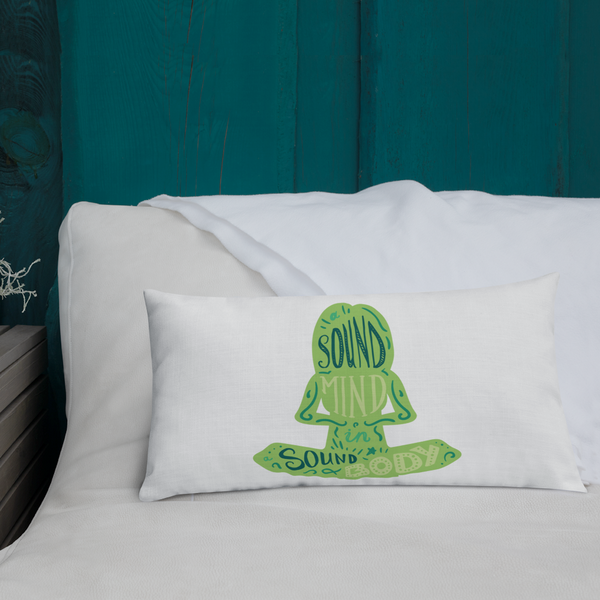 Sound Minds - Green Design Premium Pillow - The School Counselor Shop  Great gifts and items for school and guidance counselors. School Counseling, Counseling, School Shirts, Counseling Apparel