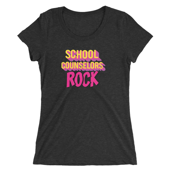 School Counselors Rock Ladies' short sleeve t-shirt - The School Counselor Shop  Great gifts and items for school and guidance counselors. School Counseling, Counseling, School Shirts, Counseling Apparel