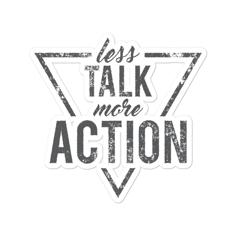 Less Talk More Action - Bubble-free stickers - The School Counselor Shop  Great gifts and items for school and guidance counselors. School Counseling, Counseling, School Shirts, Counseling Apparel