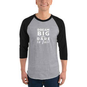 Dare to Fail - Tultex 245 Unisex 3/4 sleeve raglan shirt - The School Counselor Shop  Great gifts and items for school and guidance counselors. School Counseling, Counseling, School Shirts, Counseling Apparel