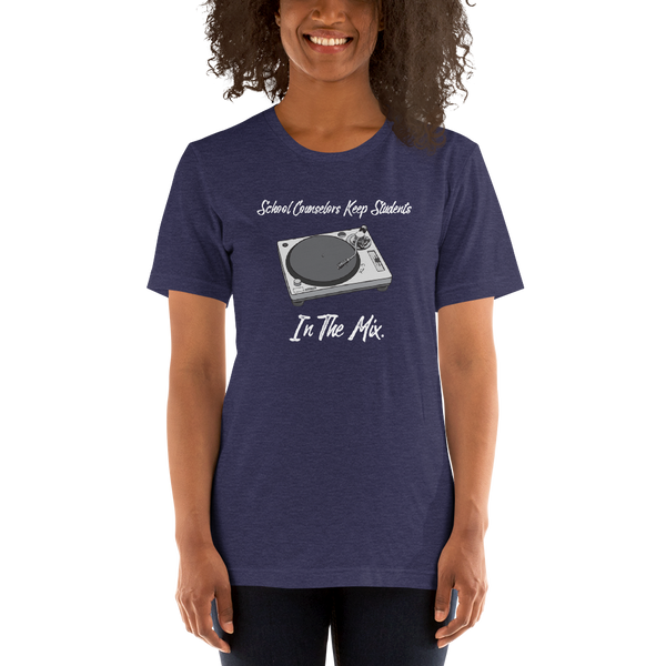 In The Mix (Light Text) B+C Unisex short sleeve t-shirt - The School Counselor Shop  Great gifts and items for school and guidance counselors. School Counseling, Counseling, School Shirts, Counseling Apparel