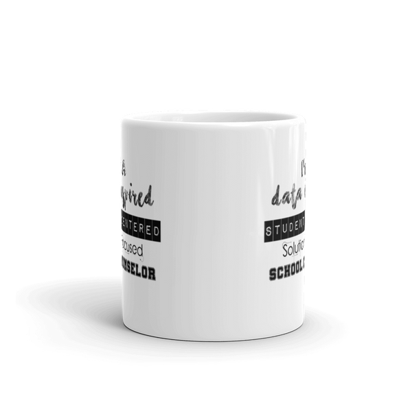 Data Inspired School Counselor Mug - The School Counselor Shop  Great gifts and items for school and guidance counselors. School Counseling, Counseling, School Shirts, Counseling Apparel