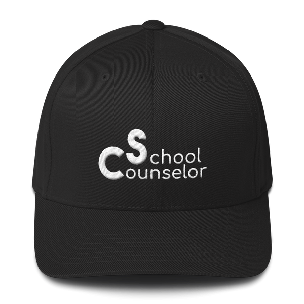 School Counselor Partial 3D Embroidered (Light Text) Structured Twill Cap - The School Counselor Shop  Great gifts and items for school and guidance counselors. School Counseling, Counseling, School Shirts, Counseling Apparel