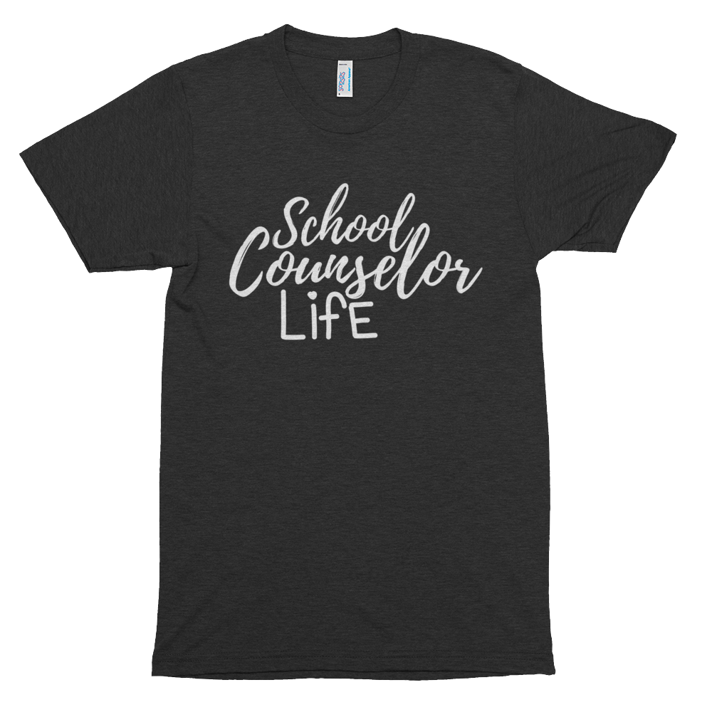 School Counselor Life American Apparel 401 Tri-Blend Short sleeve soft t-shirt - The School Counselor Shop  Great gifts and items for school and guidance counselors. School Counseling, Counseling, School Shirts, Counseling Apparel