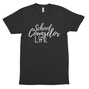 School Counselor Life American Apparel 401 Tri-Blend Short sleeve soft t-shirt - The School Counselor Shop