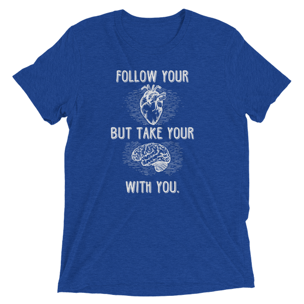 Follow Your Heart B+C 341 (Light) Short sleeve t-shirt - The School Counselor Shop  Great gifts and items for school and guidance counselors. School Counseling, Counseling, School Shirts, Counseling Apparel