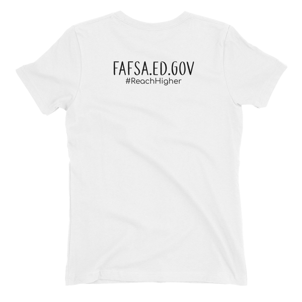 Get That Paper Franklin FAFSA Next Level Dark Women's t-shirt - The School Counselor Shop  Great gifts and items for school and guidance counselors. School Counseling, Counseling, School Shirts, Counseling Apparel