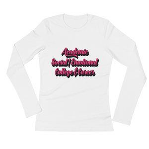 3 Domains - Bella + Canvas Ladies' Long Sleeve T-Shirt - The School Counselor Shop Long Sleeve Shirt Great gifts and items for school and guidance counselors. School Counseling, Counseling, School Shirts, Counseling Apparel