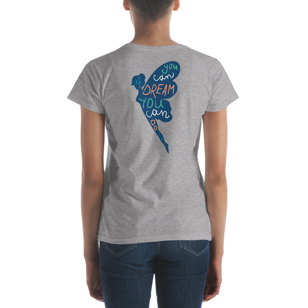 If You Can Dream It - Back Print Blue Anvil 880 Women's short sleeve t-shirt - The School Counselor Shop  Great gifts and items for school and guidance counselors. School Counseling, Counseling, School Shirts, Counseling Apparel