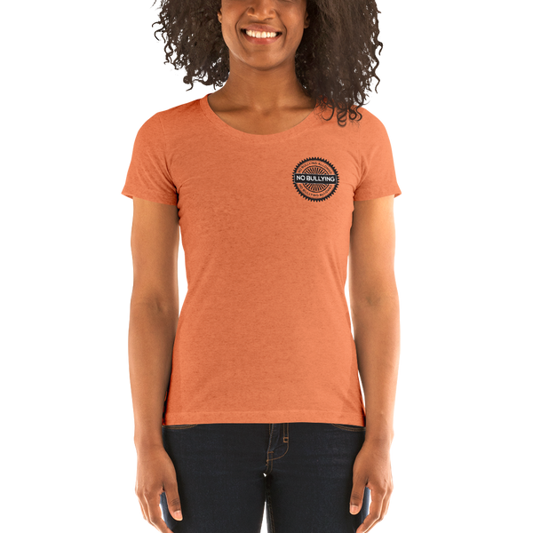 No Bullying Ladies' short sleeve t-shirt - The School Counselor Shop  Great gifts and items for school and guidance counselors. School Counseling, Counseling, School Shirts, Counseling Apparel