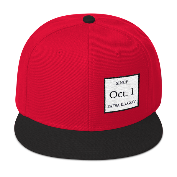 Since Oct. 1 Flat Embroidery Snapback Hat - The School Counselor Shop  Great gifts and items for school and guidance counselors. School Counseling, Counseling, School Shirts, Counseling Apparel