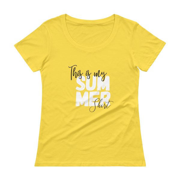 School Counselor Shirt | Summer Shirt | Teacher Shirt | Summer Break | Last Day of School | Educator | Psych Ladies' Scoopneck T-Shirt - The School Counselor Shop  Great gifts and items for school and guidance counselors. School Counseling, Counseling, School Shirts, Counseling Apparel