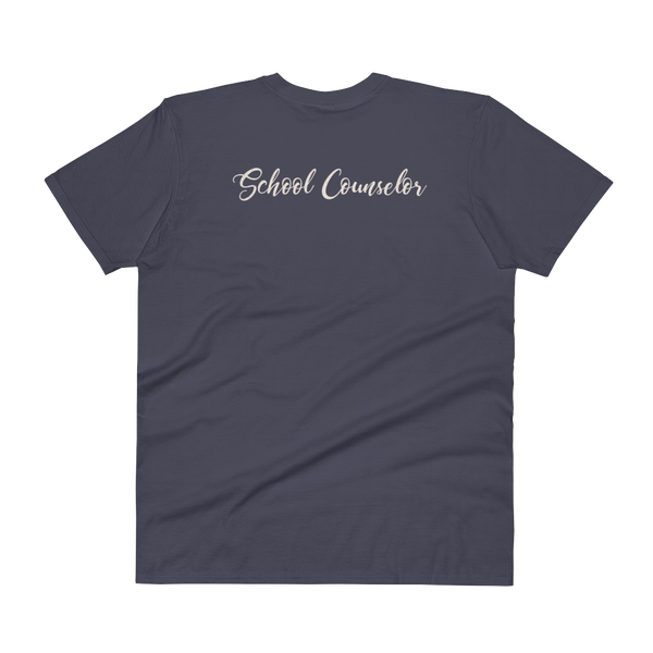 CA School Counselor 2 V-Neck T-Shirt - The School Counselor Shop
