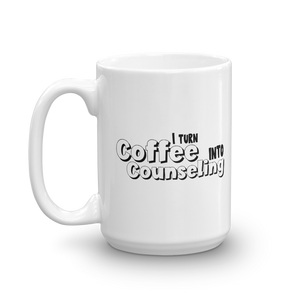 Coffee into Counseling - Ceramic Coffee/Tea Mug - The School Counselor Shop  Great gifts and items for school and guidance counselors. School Counseling, Counseling, School Shirts, Counseling Apparel
