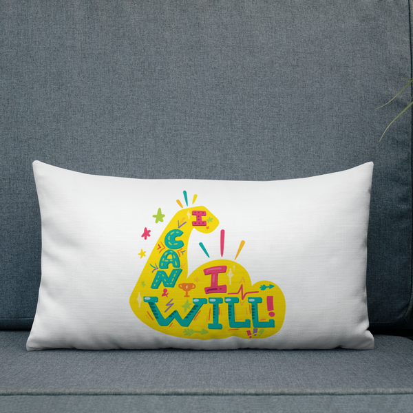 I Can I Will - Premium Pillow For School Counselor and Educator Office Decor - The School Counselor Shop  Great gifts and items for school and guidance counselors. School Counseling, Counseling, School Shirts, Counseling Apparel