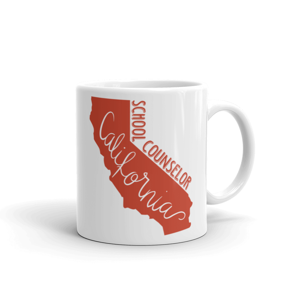 California School Counselor Ceramic Mug - The School Counselor Shop  Great gifts and items for school and guidance counselors. School Counseling, Counseling, School Shirts, Counseling Apparel