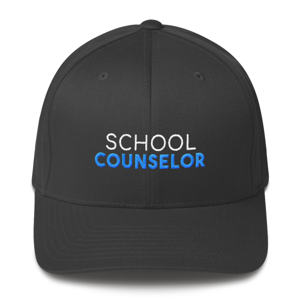 School Counselor - Flexfit Structured Twill Cap - The School Counselor Shop  Great gifts and items for school and guidance counselors. School Counseling, Counseling, School Shirts, Counseling Apparel