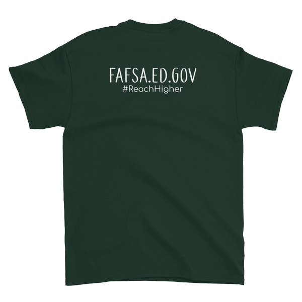 Get That Paper Franklin FAFSA Gildan 2000 Color/Lt Short sleeve t-shirt - The School Counselor Shop  Great gifts and items for school and guidance counselors. School Counseling, Counseling, School Shirts, Counseling Apparel