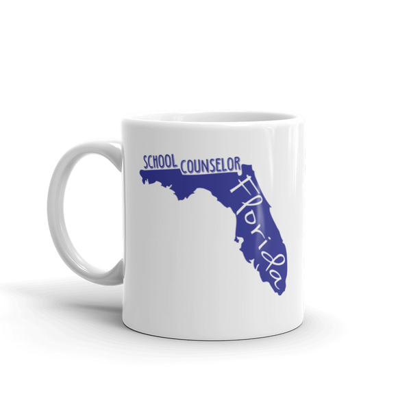 FL School Counselor Mug - The School Counselor Shop  Great gifts and items for school and guidance counselors. School Counseling, Counseling, School Shirts, Counseling Apparel