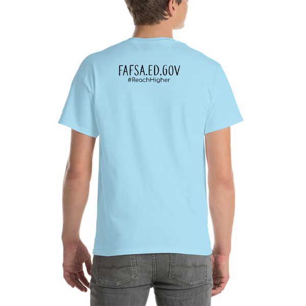 Get That Paper Franklin FAFSA Gildan 2000 Short sleeve t-shirt - The School Counselor Shop  Great gifts and items for school and guidance counselors. School Counseling, Counseling, School Shirts, Counseling Apparel