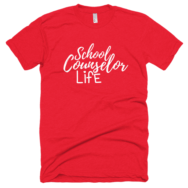 School Counselor Life American Apparel BB401 (Light Text) Short sleeve soft t-shirt - The School Counselor Shop  Great gifts and items for school and guidance counselors. School Counseling, Counseling, School Shirts, Counseling Apparel