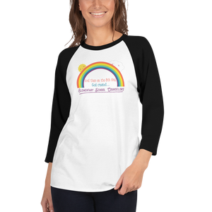 On the 8th Day - Elementary School Counselor Unisex 3/4 sleeve raglan shirt - The School Counselor Shop  Great gifts and items for school and guidance counselors. School Counseling, Counseling, School Shirts, Counseling Apparel