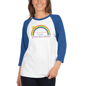 On the 8th Day - Elementary School Counselor Unisex 3/4 sleeve raglan shirt