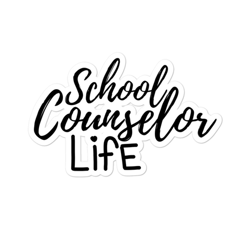 School Counselor Life Bubble-free stickers - The School Counselor Shop  Great gifts and items for school and guidance counselors. School Counseling, Counseling, School Shirts, Counseling Apparel