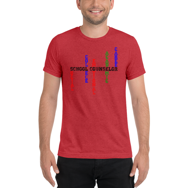School Counselor Word Art - B+C  3413 Unisex Short sleeve t-shirt - The School Counselor Shop  Great gifts and items for school and guidance counselors. School Counseling, Counseling, School Shirts, Counseling Apparel